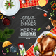 Turkey Thanksgiving Day Christmas Frame