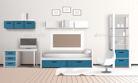Keeping Room Apartment Composition - Miscellaneous Vectors