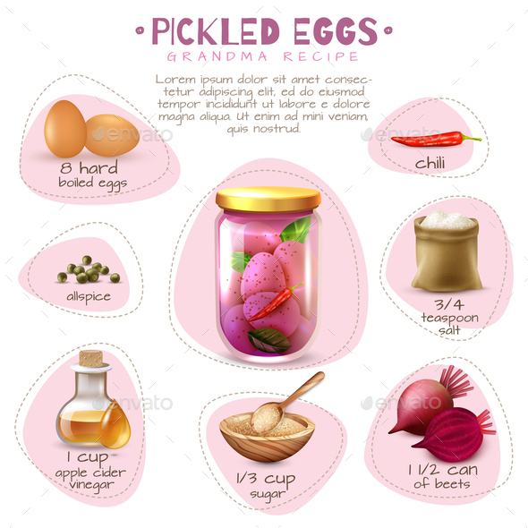 Canned Food Pickled Eggs Poster - Food Objects