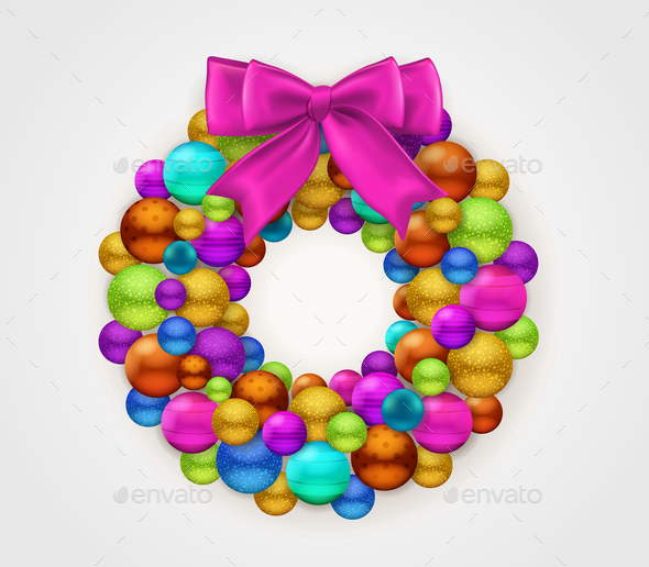 Christmas Round Garland - Seasons/Holidays Conceptual