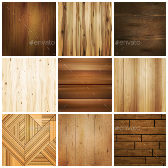 Wooden Floor Tile Set - Miscellaneous Vectors