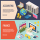 Accounting Isometric Banners Set