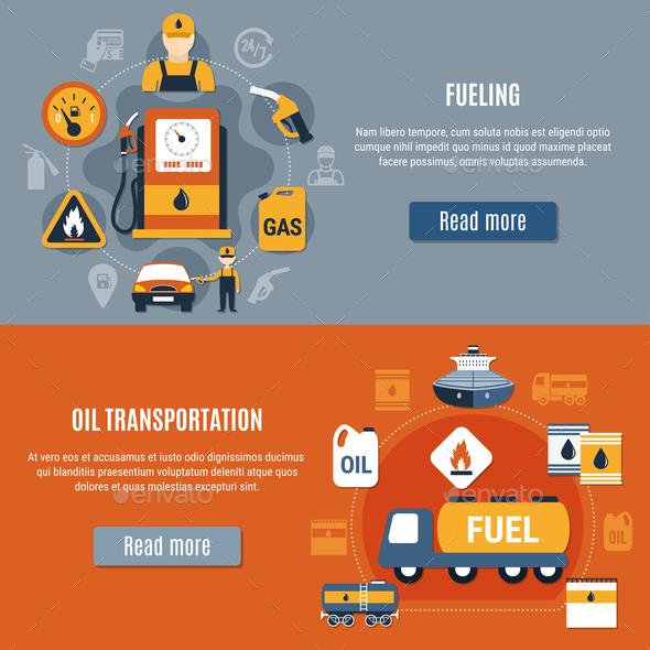 Fuel Pump Banner Set - Industries Business