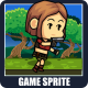 The Brave Girl Adventurer 2D Game Character Sprite