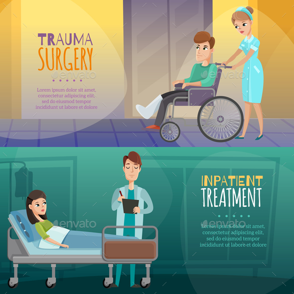 Doctors Patients Horizontal Banners - Health/Medicine Conceptual