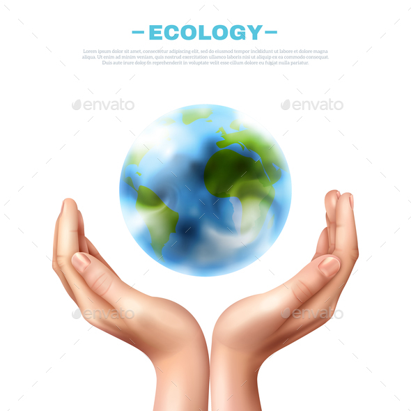 Ecology Symbol Illustration - Landscapes Nature