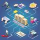 Stock Exchange Isometric Flowchart