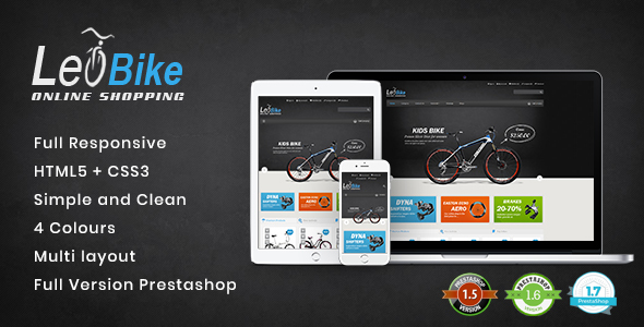 Leo Bike Prestashop 1.5, Prestashop 1.6 and  Prestashop 1.7 Theme - Fashion PrestaShop