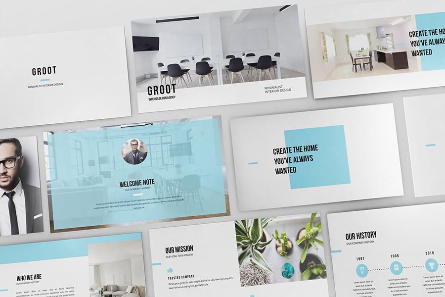 groot - interior design powerpoint presentationgiantdesign, Powerpoint templates