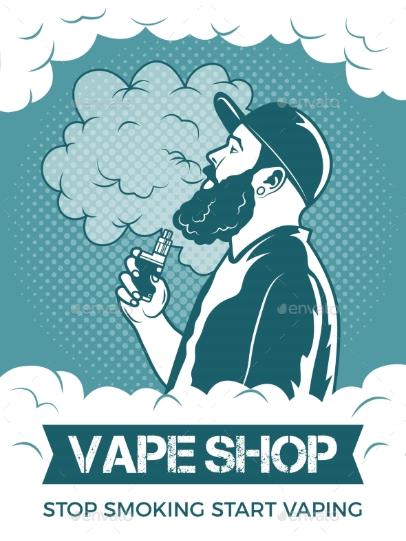 Hipster Holding Electronic Cigarette - Miscellaneous Vectors