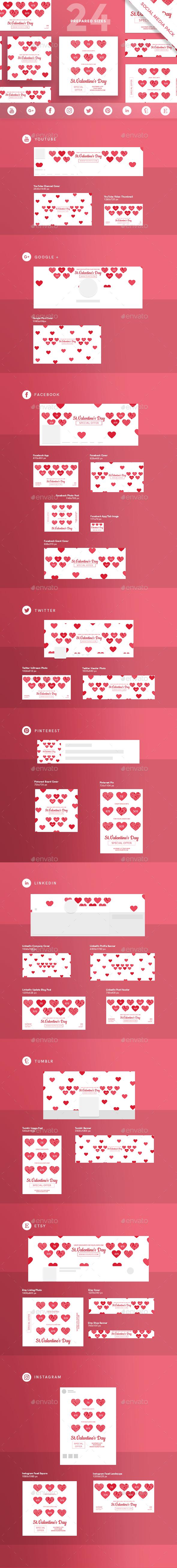 Valentine's Day Social Media Pack - Miscellaneous Social Media