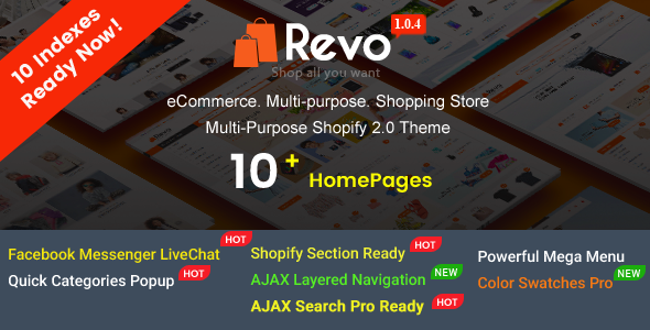 Image of Revo - Creative Multi-Purpose Responsive Shopify Drag & Drop Sections Theme with 10 Layouts Ready