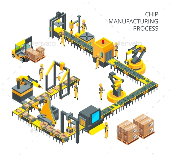 Industrial Production of Computer Parts - Industries Business