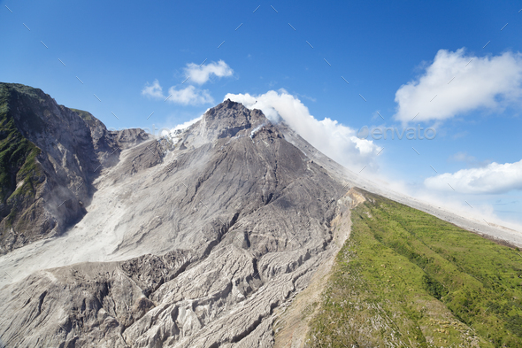 Soufriere Hills Volcano, Montserrat - Stock Photo - Images
