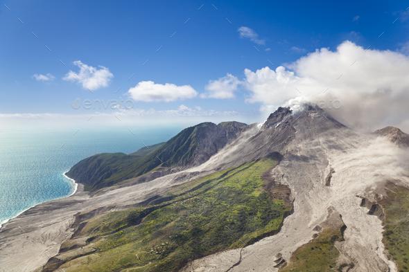 Soufriere Hills Volcano, Montserrat - Stock Photo - Images
