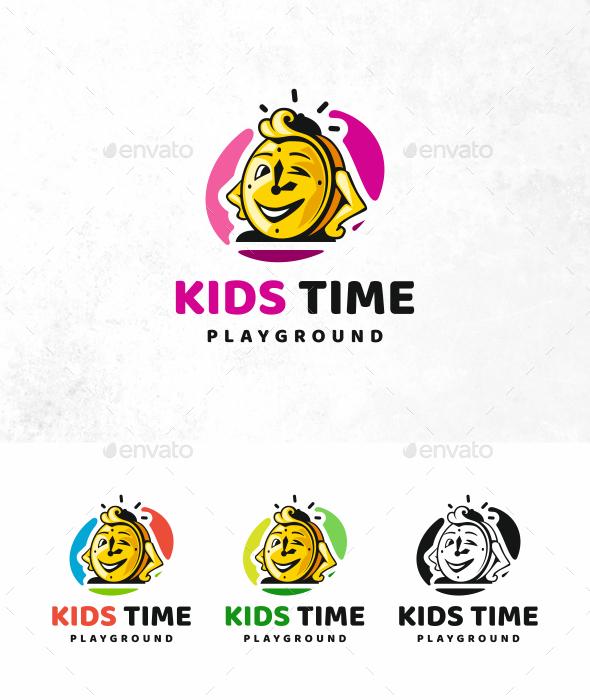 Kids Time Logo - Objects Logo Templates