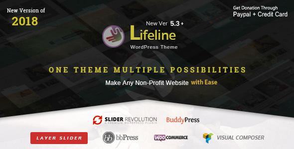 Image of Lifeline - NGO Charity Fund Raising WordPress Theme