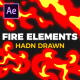 Hand Drawn Fire Elements - VideoHive Item for Sale