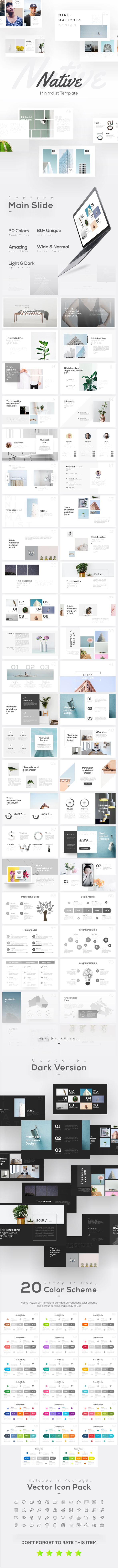 Native Minimalist PowerPoint Template - Business PowerPoint Templates