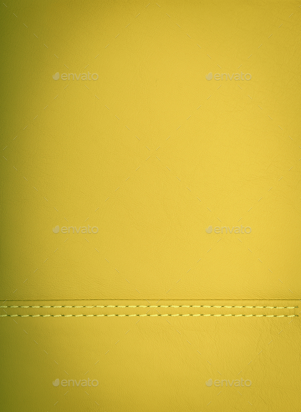 yellow colored leather natural background  - Stock Photo - Images