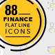 88 Finance Line Icons - GraphicRiver Item for Sale