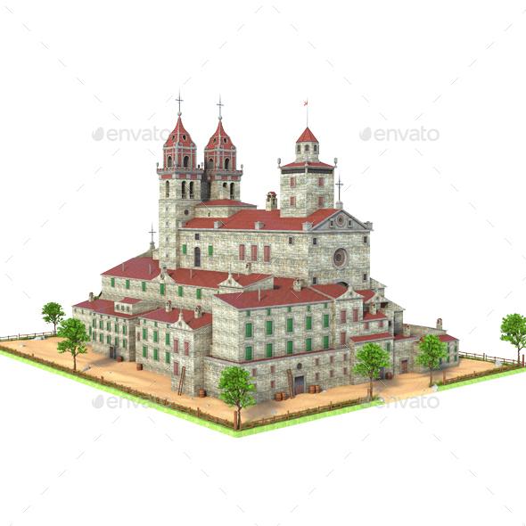 Big Historic Building - Architecture 3D Renders