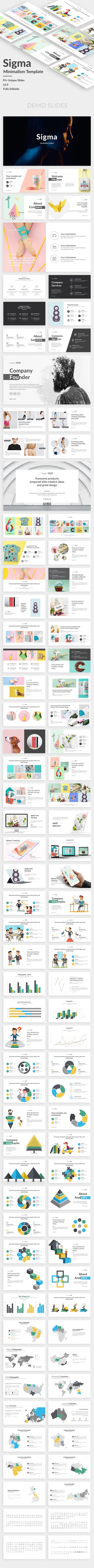 Sigma Minimalism Project Google Slide Template - Google Slides Presentation Templates