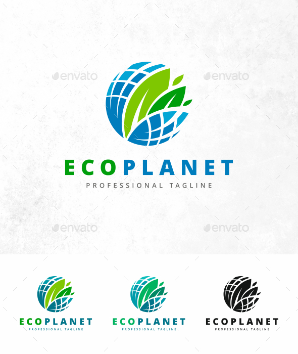 Eco Planet Logo - Nature Logo Templates