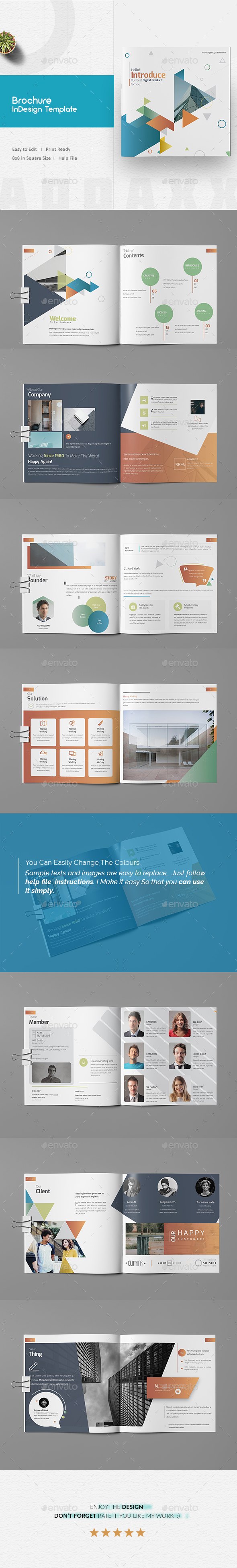 Brochure InDesign Template - Corporate Brochures