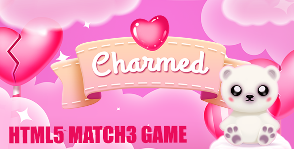 CodeCanyon Charmed Match 3 Valentine Game [Mini] 21229380
