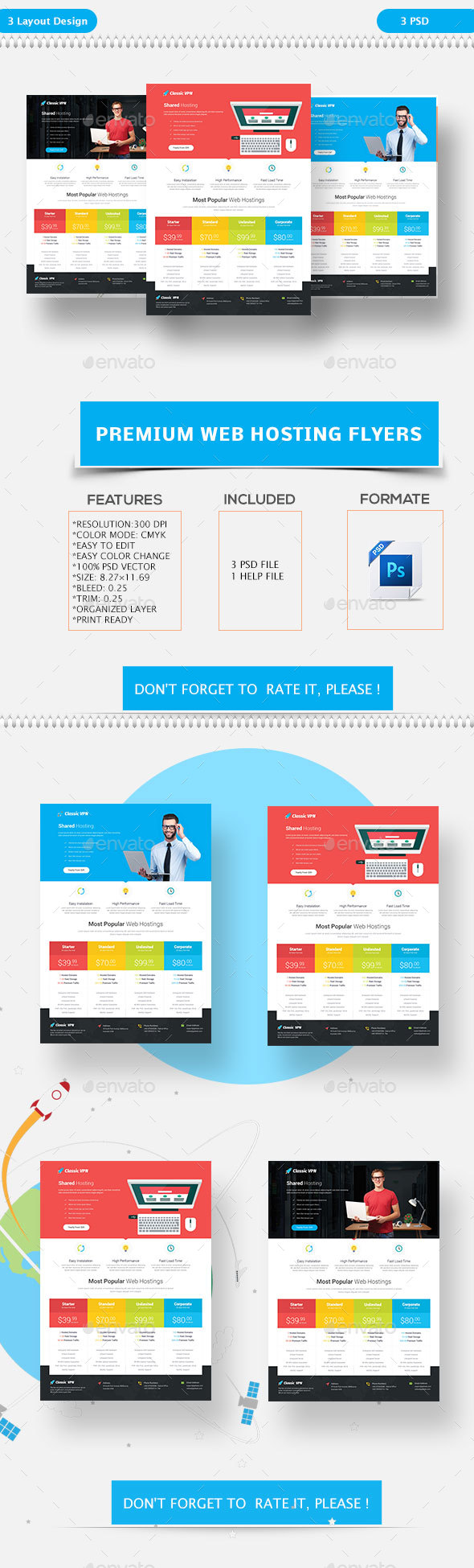 Premium Web Hosting Flyers