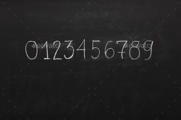 Learning numbers background - Stock Photo - Images