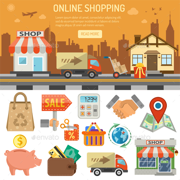 Internet Shopping Banner - Retail Commercial / Shopping