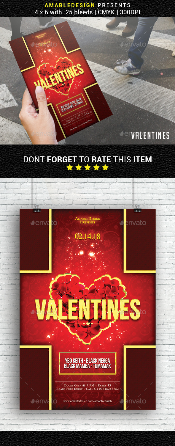 Valentines Flyer - Events Flyers