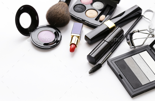 Set Cosmetics for Makeup  - Stock Photo - Images