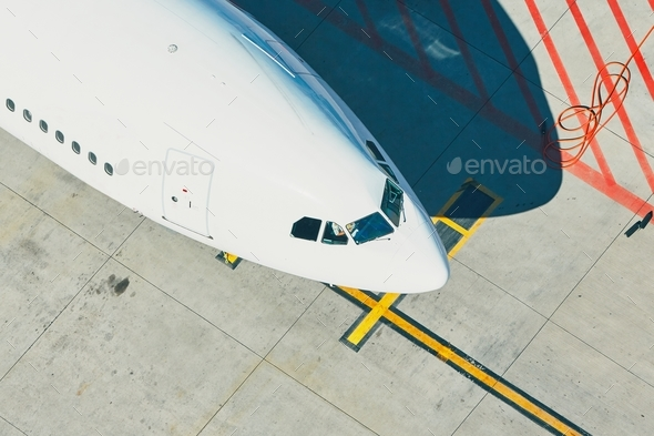 Aerial view of the airport - Stock Photo - Images