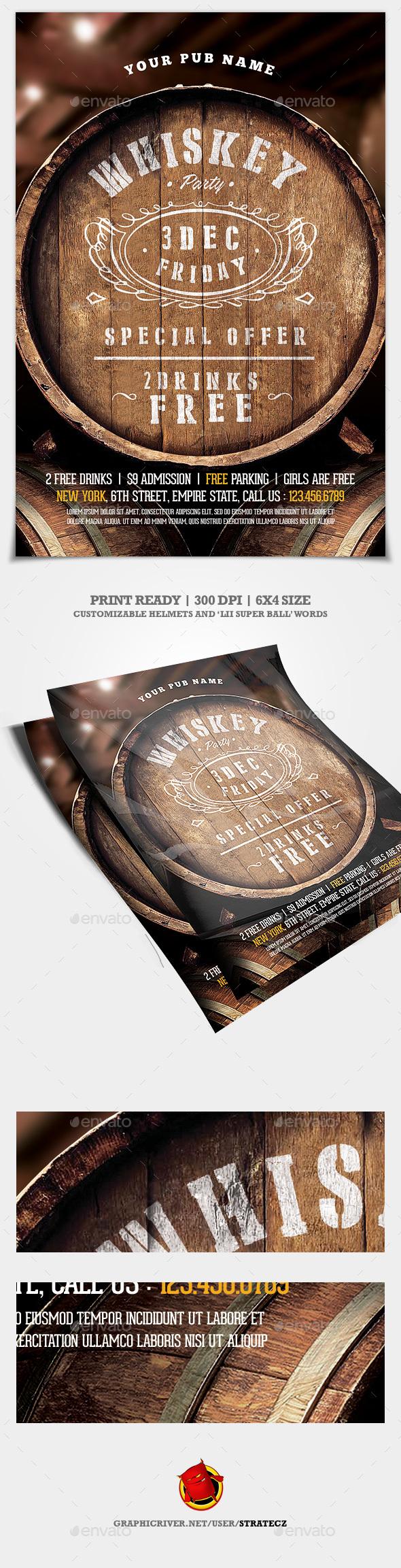 Whiskey Flyer - Print Templates