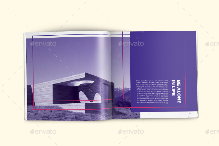 Poui Square Portfolio Brochure Template By Hazemtawfik Graphicriver