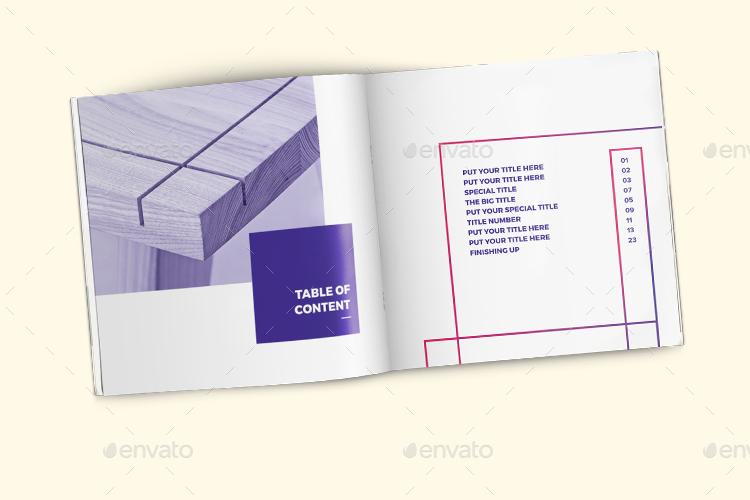 POUI Square Portfolio Brochure Template By Hazemtawfik GraphicRiver - A brochure template
