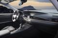 Car dashboard, modern luxury interior, steering wheel, sun rise in the windows - PhotoDune Item for Sale