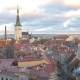 Old Town of Tallinn with Narrow Streets and Gingerbread Houses with Red Roofs - VideoHive Item for Sale