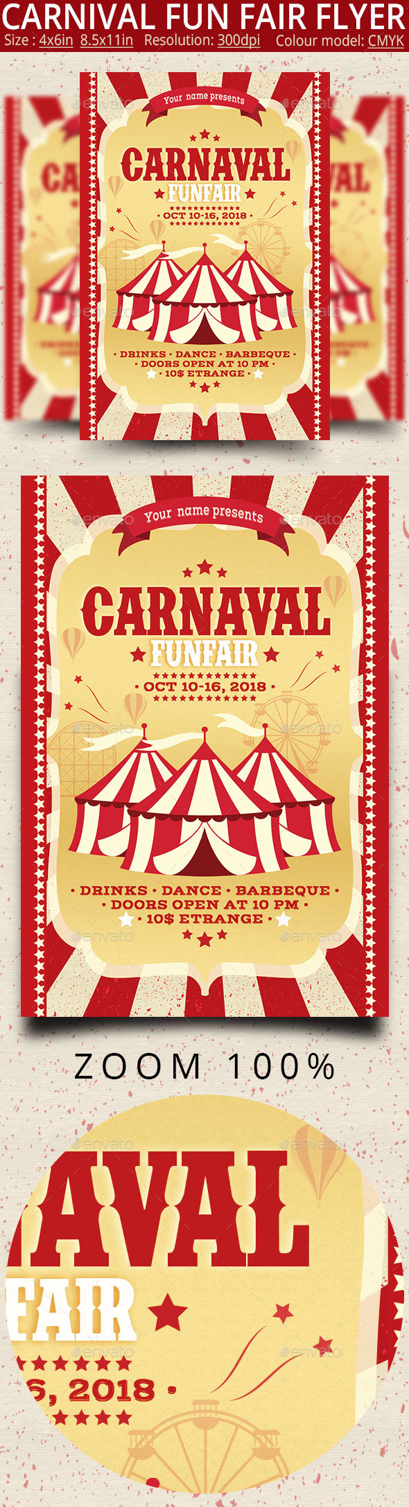 Carnival Fun Fair Flyer Poster - Events Flyers