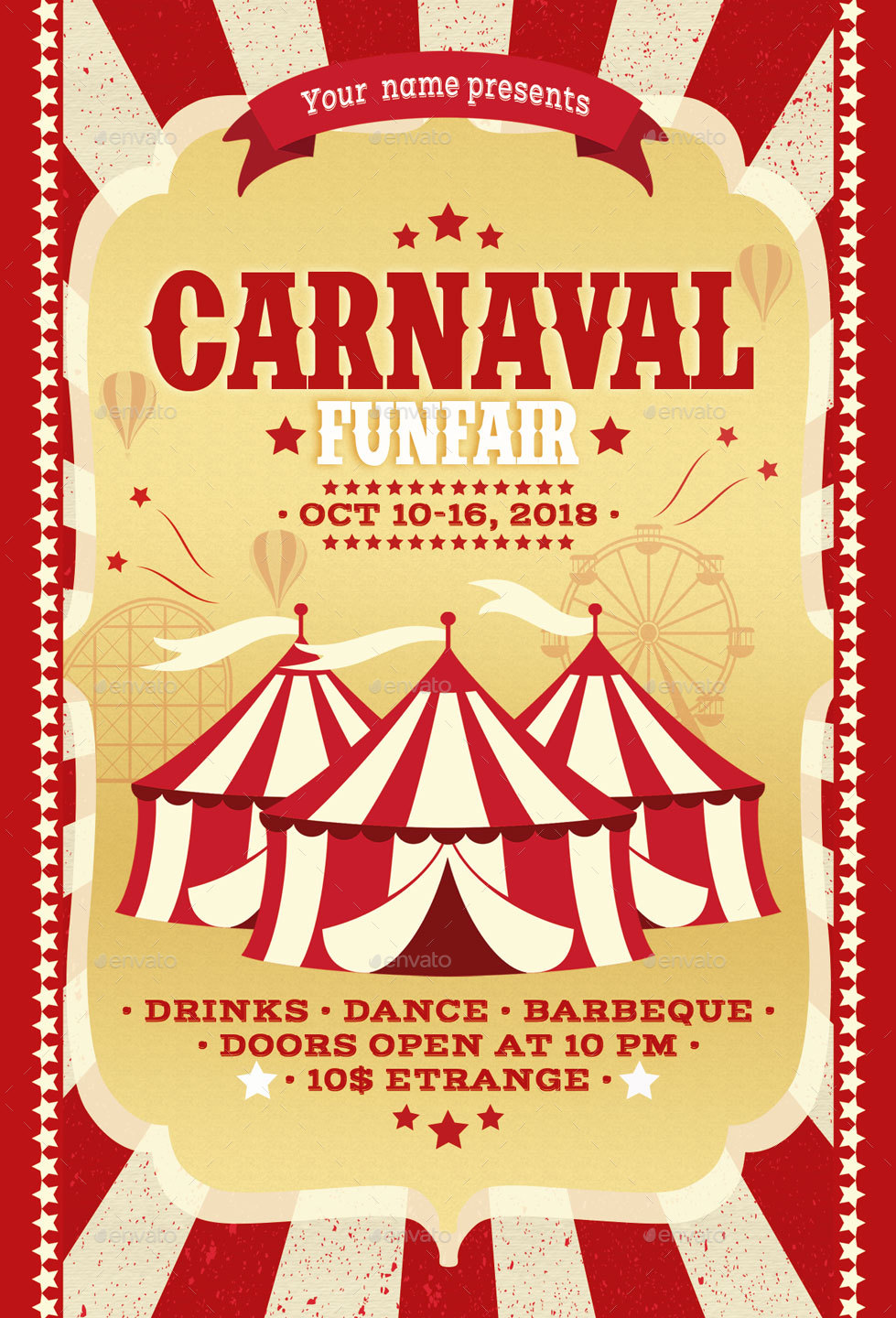 carnival fun fair flyer poster by oloreon