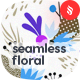 Seamless Floral Patterns in the Memphis Style Backgrounds