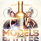 Models and Bottles Party Flyer Template - GraphicRiver Item for Sale