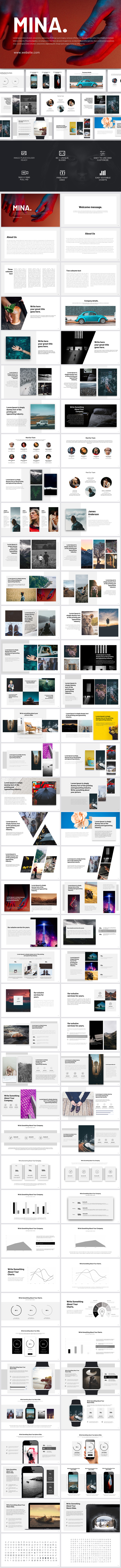 Mina Google Slides - Google Slides Presentation Templates