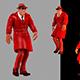 Walking Man In Cloak - VideoHive Item for Sale