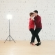 Two Professional Dancers - Female and Male Is Dancing Together in Studio - VideoHive Item for Sale