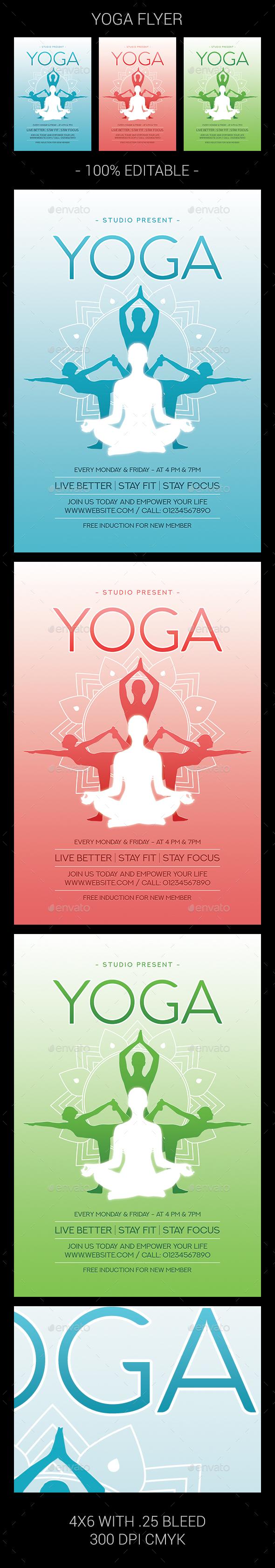 Yoga Flyer - Flyers Print Templates