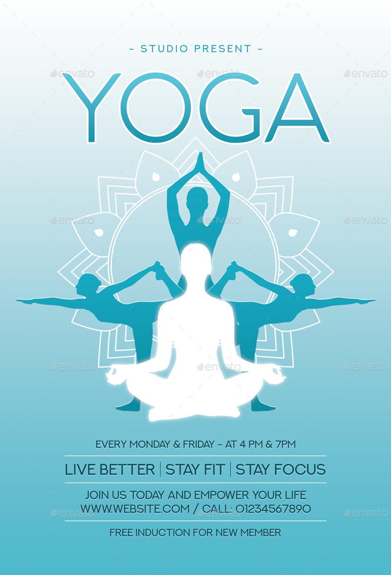 yoga flyer by sunilpatilin